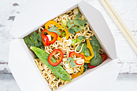 Box of mie noodles with vegetables - LVF06233