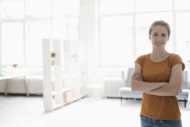 Portrait of woman in a loft - KNSF02233