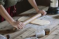 Close-up of woman preparing dough - ALBF00139