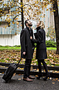Happy business couple in the city - MAUF01178