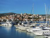 Croatia, Dalmatia, Adriatic Sea, Rogonizca, Yachts at marina - AMF05421