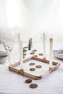 Laid table at Christmas time - SBDF03275