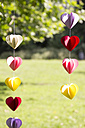 Heart-shaped garland made of paper hanging in garden - CMF00691