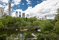 USA, New York City, Skyline with Central Park in spring - MAUF01210