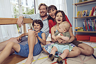 Happy family in children's room - MFF03799