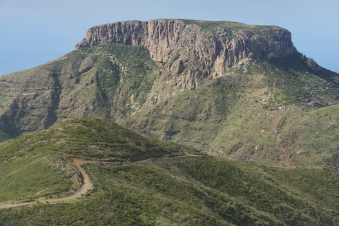 Spain, Canary islands, La Gomera, table mountain La Fortaleza - DHCF00138