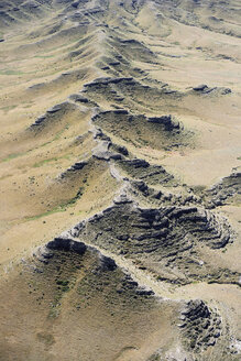 USA, Aerial of bluffs and escarpments south of Alliance, Nebraska - BCDF00305