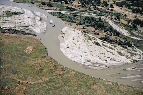 USA, Aerial of the Platte River in Western Nebraska - BCDF00308