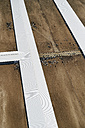 USA, Aerial photograph of Beef Cattle feed lot near Greeley, Colorado - BCDF00323