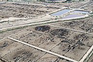 USA, Aerial photograph of Beef Cattle feed lot near Greeley, Colorado - BCDF00326