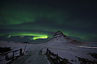 Iceland, Kirkjufell mountain with northern lights - EPF00462