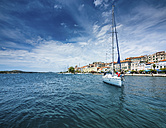 Croatia, Sibenik, Adria coast, sailing boat on the sea - AMF05469