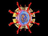 Influenza virus, 3D Rendering - SPCF00156