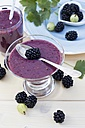 Glass of blackberry smoothie - YFF00676