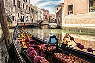 Italy, Venice, gondola on canal - CSTF01363