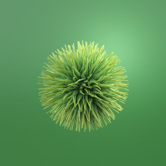 Hairy green ball, 3d rendering - AHUF00416