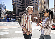 Mature couple meeting in the city - WESTF23520