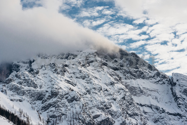 Germany, Berchtesgadener Land, Berchtesgaden National Park, view to summit - MJF02169