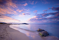 Italy, Sardinia, romantic beach at sunset - SIPF01674