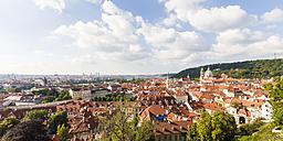 Czech Republic, Prague, Mala Strana, cityscape with St. Nicholas' Church - WDF04101