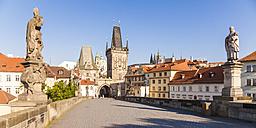 Czech Republic, Prague, Hradcany, Kleinseite Bridge Tower - WDF04116