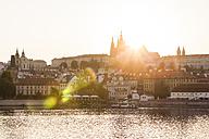 Czech Republic, Prague, Hradcany, Vltlava at sunset - WDF04137