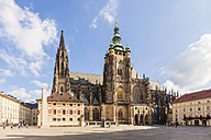 Czech Republic, Prague, Hradcany, Castle, third courtyard and St Vitus Cathedral - WD04143