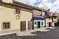 Czech Republic, Prague, Hradcany, Golden Lane with Kafka house - WD04146