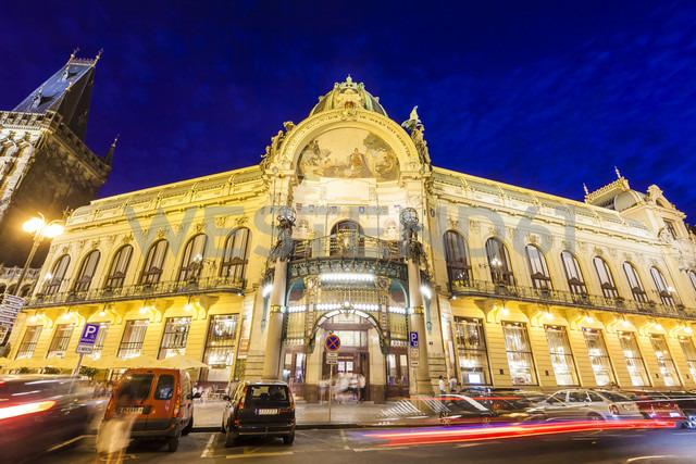 Czech Republic, Prague, Republic Square at night - WDF04152
