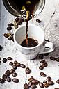 Pouring Arabian Coffee into cup - SBDF03295