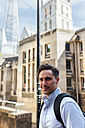 UK, London, portrait of confident man in the city - MGOF03606
