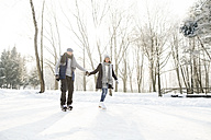 Senior couple ice skating - HAPF02155