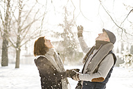 Happy senior couple in winter landscape - HAPF02167