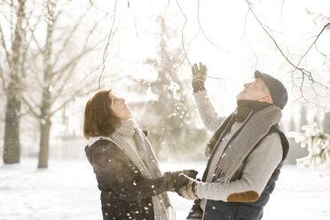 Happy senior couple in winter landscape - HAPF02167
