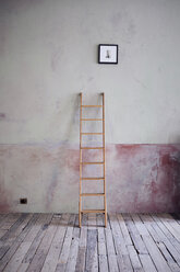 Ladder and picture in an unrenovated room in a loft - RBF06013