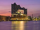 Germany, Hamburg, Elbphilarmonie in the morning - RJF00724