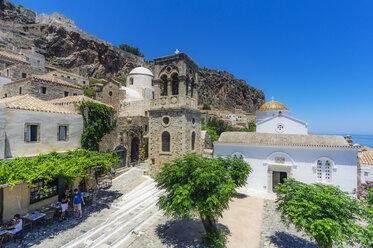 Greece, Monemvasia, townscape with church - THA02044