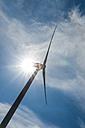 Wind turbine in backlight - FRF00549