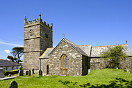 UK, England, Cornwall, Zennor, St Senara's Church - SIEF07517