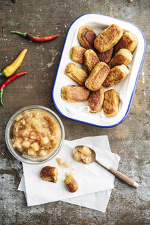Tater Tots, potato croquettes, with chili apple compote - IPF00415