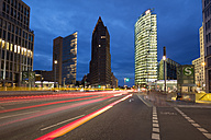 Germany, Berlin, view to Potsdamer Platz at twilight - WIF03433
