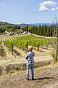 Man standing in vineyard - MGIF00127