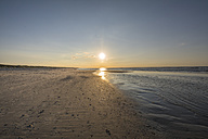 Germany, Lower Saxony, East Frisian Island, Juist, sunset on the beach - ODF01551