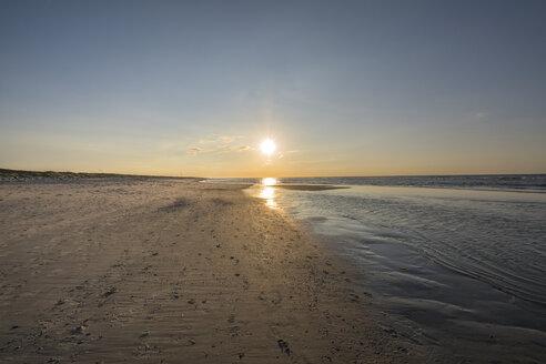 Germany, Lower Saxony, East Frisian Island, Juist, sunset on the beach - ODF01551