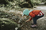 Toddler on a trip in forest - DWF00294