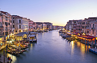Italy, Venice, anal Grande at blue hour - MRF01715