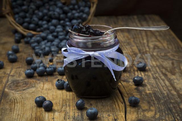 Homemade blueberry jam in jar - LVF06282