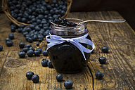 Homemade blueberry jam in jar - LVF06282