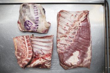 Meat on cart in butchery - ZEF14625