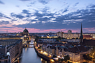 Germany, Berlin, elevated city view at morning twilight - SPPF00002